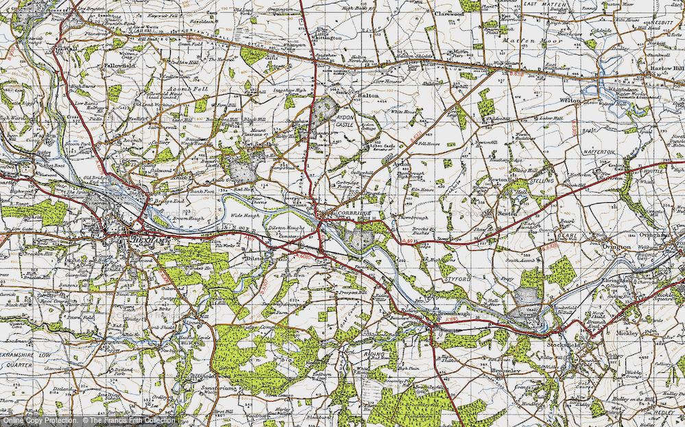 Old Map of Corbridge, 1947 in 1947
