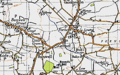Old map of Banyards Hall in 1946