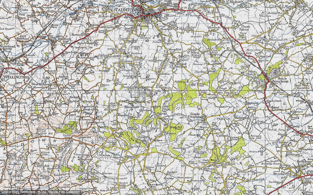 Old Map of Corfe, 1946 in 1946