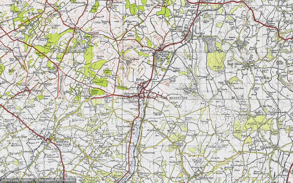 Old Map of Corhampton, 1945 in 1945
