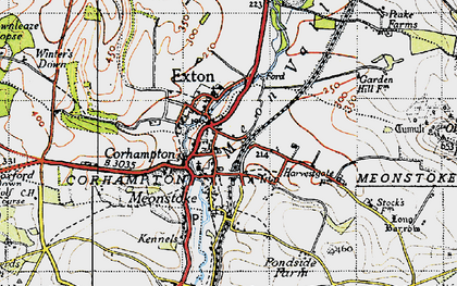 Old map of Corhampton in 1945
