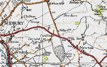Old map of Abbas Hall in 1946