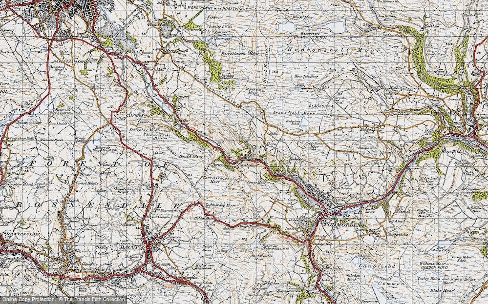 Old Map of Cornholme, 1947 in 1947