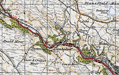 Old map of Cornholme in 1947