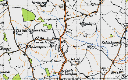 Old map of Tinkers Green in 1946