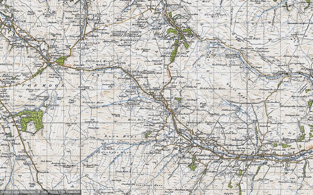 Old Map of Cornriggs, 1947 in 1947