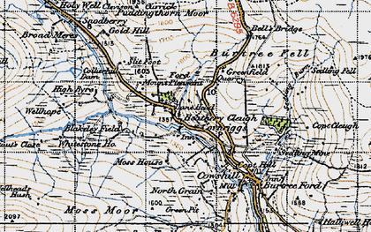 Old map of Whitestone Ho in 1947