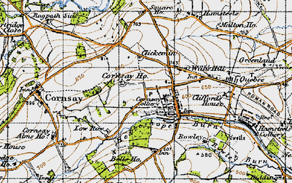 Old map of Cornsay Colliery in 1947