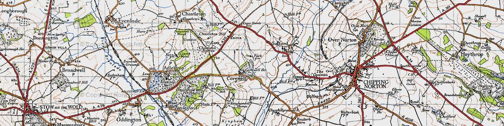 Old map of Whitequarry Hill in 1946