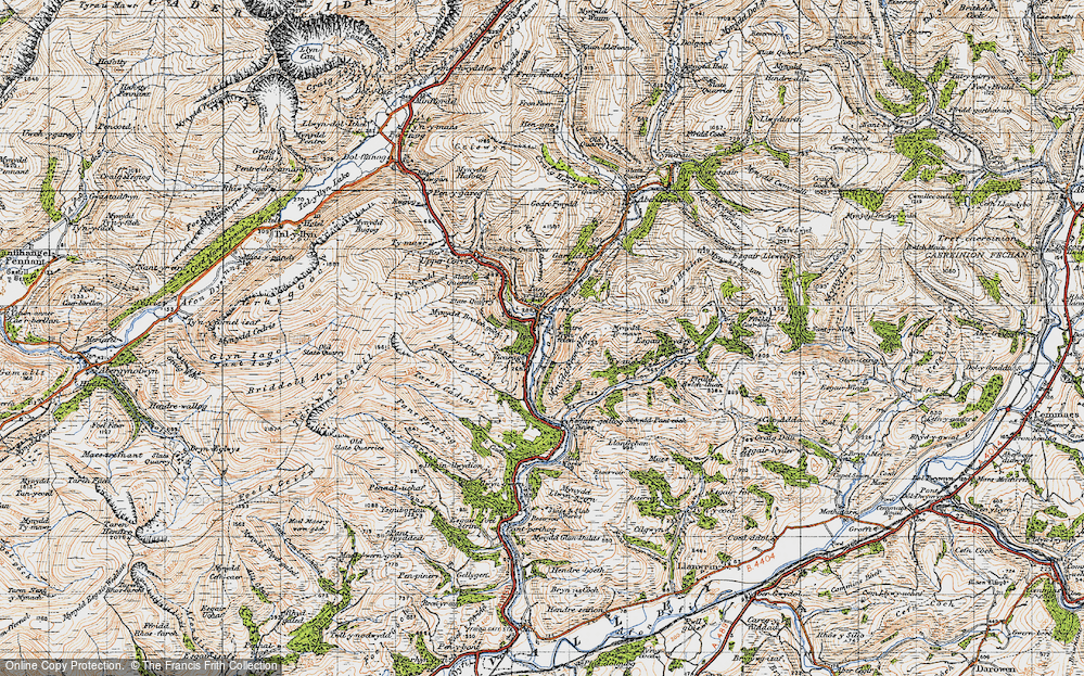 Old Map of Corris, 1947 in 1947