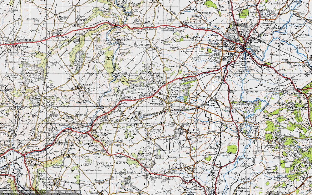 Old Map of Corsham, 1946 in 1946