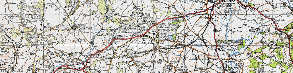Old map of Corsham in 1946