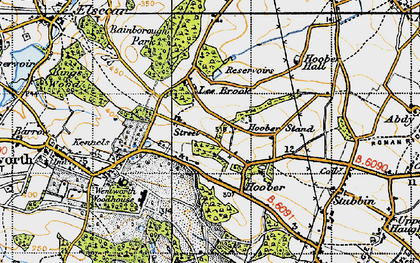 Old map of Lea Brook in 1947