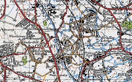 Old map of Coseley in 1946