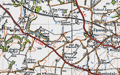 Old map of Cosford in 1946