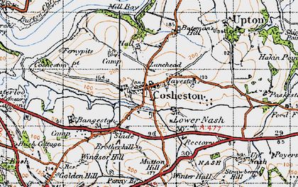 Old map of Bangeston Hall in 1946
