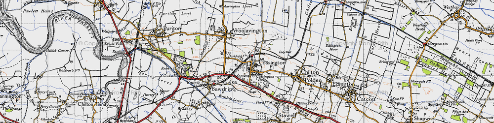 Old map of Cossington in 1946