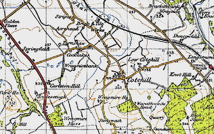 Old map of Wragmire Moss in 1947