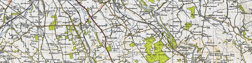 Old map of Wragmire Bank in 1947