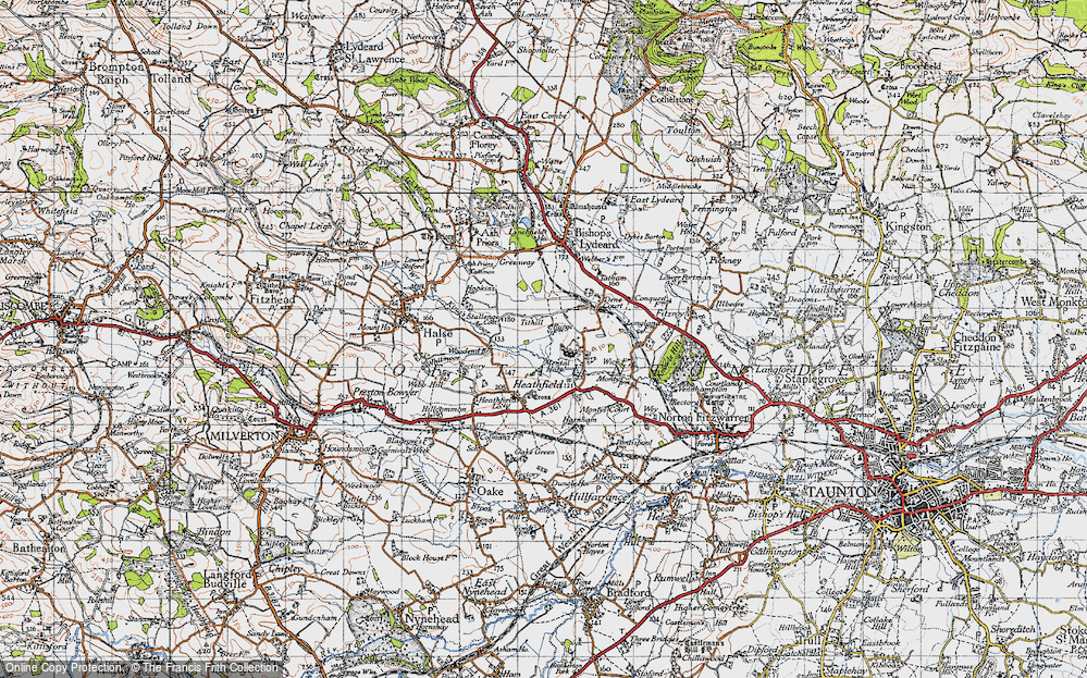 Old Map of Historic Map covering Tone Vale in 1946