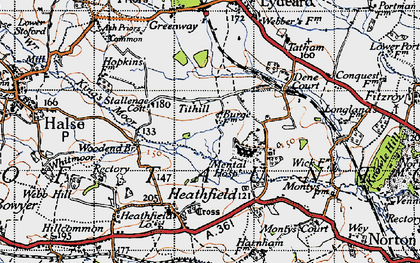 Old map of Tithill in 1946