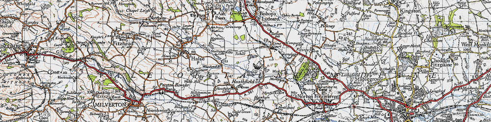 Old map of Tone Vale in 1946