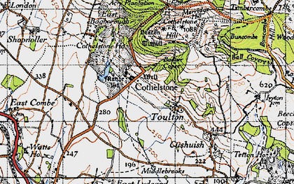 Old map of Cothelstone in 1946
