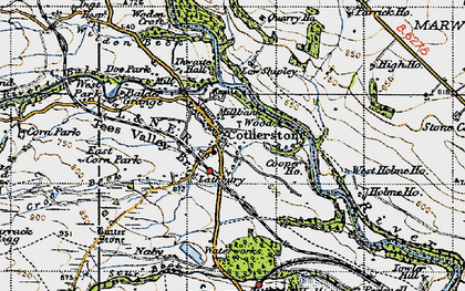 Old map of West Park in 1947