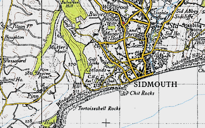 Old map of Windgate in 1946