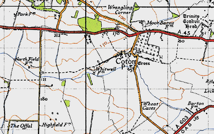 Old map of Wheatcases in 1946