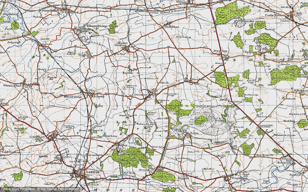 Old Map of Cottesmore, 1946 in 1946