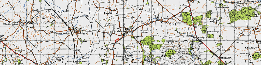 Old map of Cottesmore in 1946