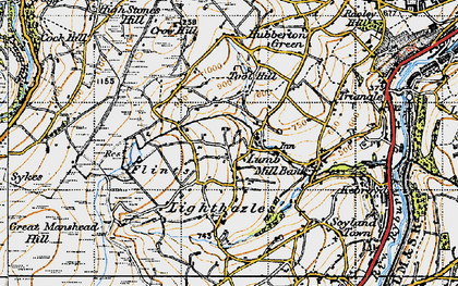Old map of Baitings Pasture in 1947