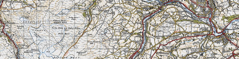Old map of Toot Hill in 1947