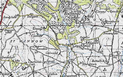 Old map of Abovetown in 1946