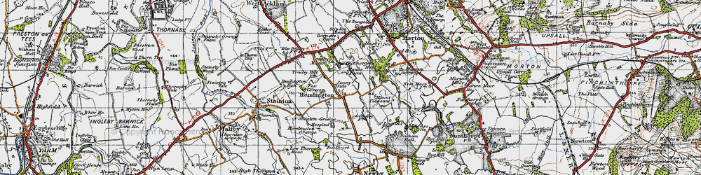 Old map of Coulby Newham in 1947