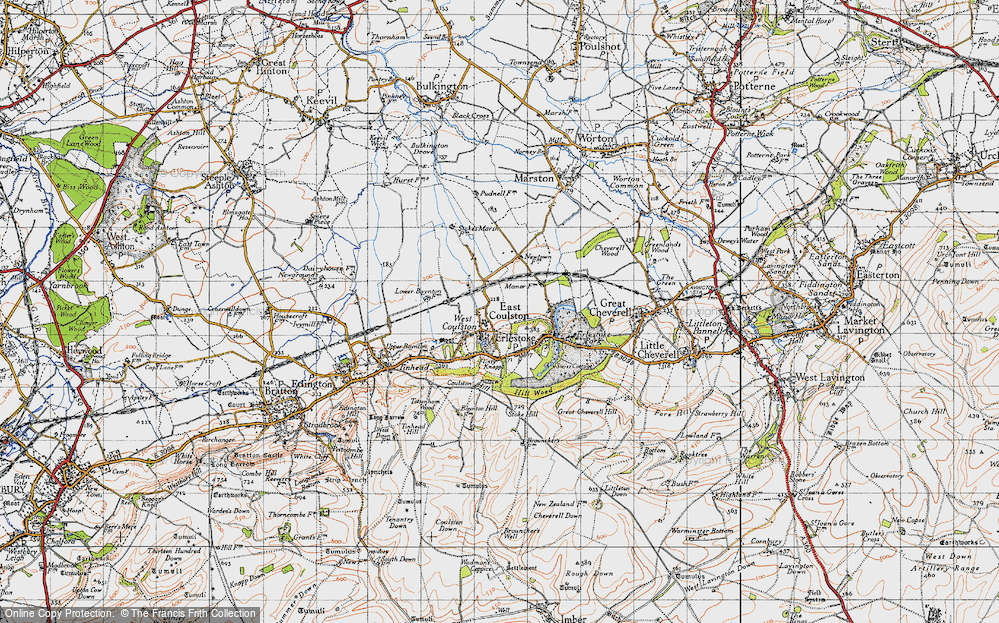 Old Map of Coulston, 1940 in 1940