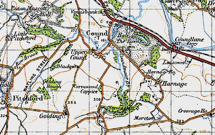 Old map of Lawns, The in 1947