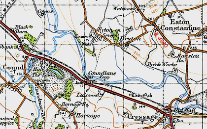 Old map of Leasowes in 1947
