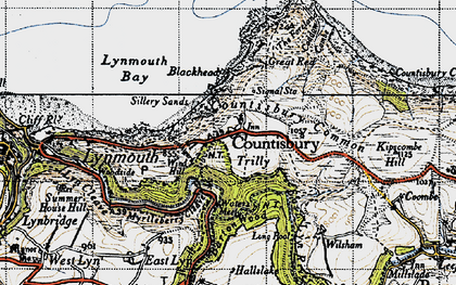 Old map of Countisbury in 1946