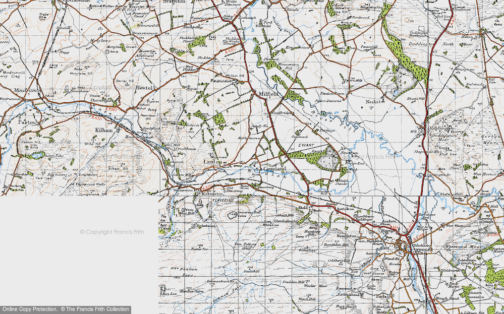 Old Map of Historic Map covering Lanton in 1947