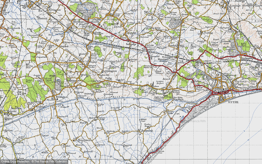 Old Map of Historic Map covering Aldergate Wood in 1940