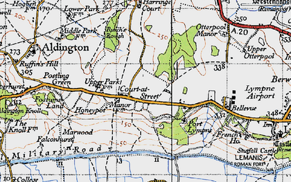 Old map of Aldergate Wood in 1940