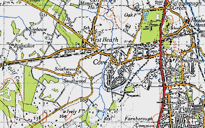 Old map of Cove in 1940