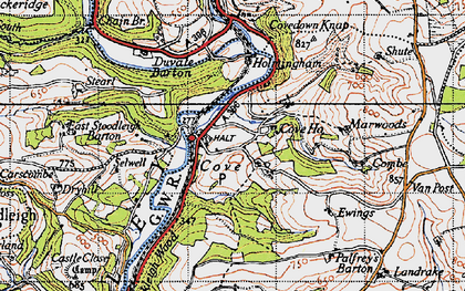 Old map of Cove in 1946