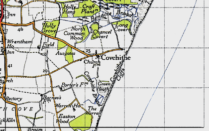 Old map of Covehithe in 1946