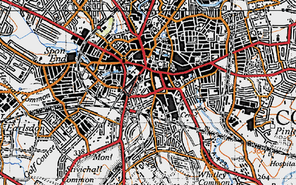 Old map of Coventry in 1946