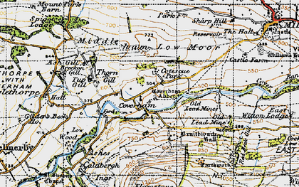 Old map of Coverham in 1947