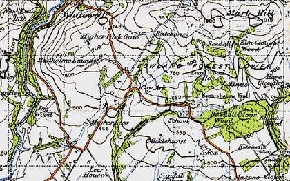 Old map of Wilsons in 1947