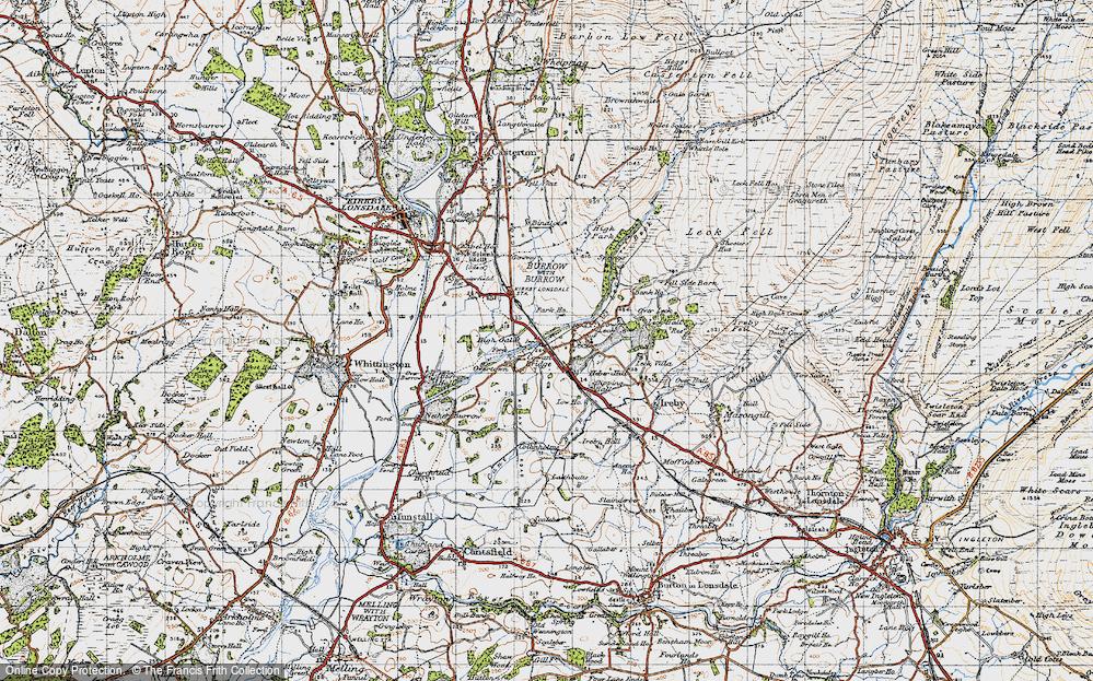 Old Map of Cowan Bridge, 1947 in 1947
